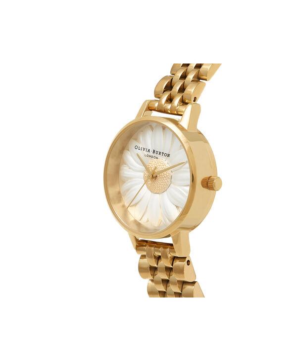 OLIVIA BURTON LONDON 3D Daisy Gold BraceletOB16FS100 – Midi Dial Round in Gold - Side view