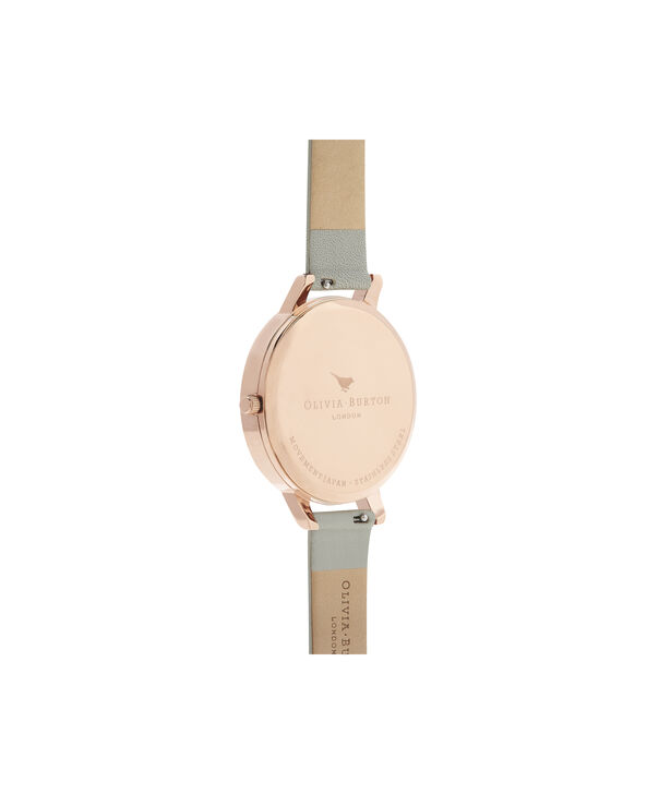 OLIVIA BURTON LONDON Bejewelled Floral Grey And Rose GoldOB16EX106 – Big Dial In Grey And Rose Gold - Back view