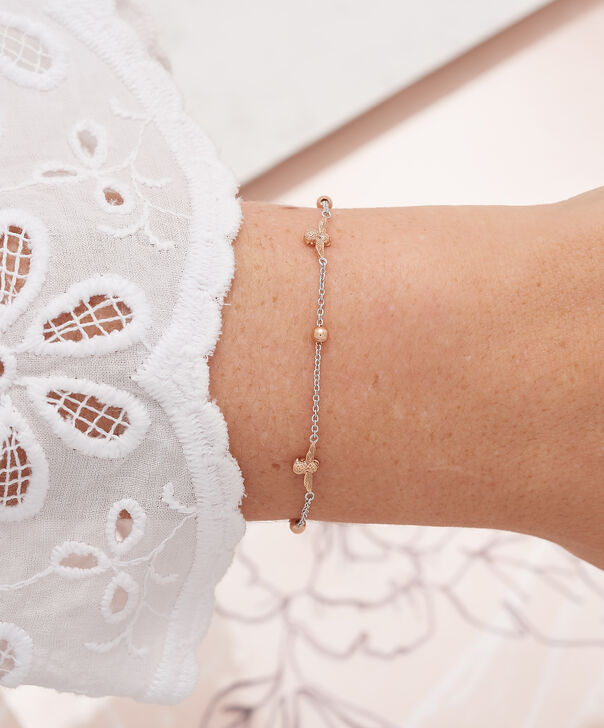 OLIVIA BURTON LONDON  3D Bee & Ball Chain Bracelet Silver & Rose Gold OBJ16AMB16 – 3D Bee Chain Bracelet - Other view