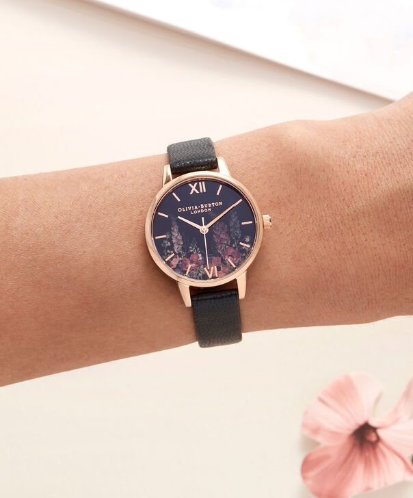 OLIVIA BURTON LONDON  Dark Bouquet Rose Gold Watch OB16WG43 – Midi Dial Round in Rose Gold - Other view