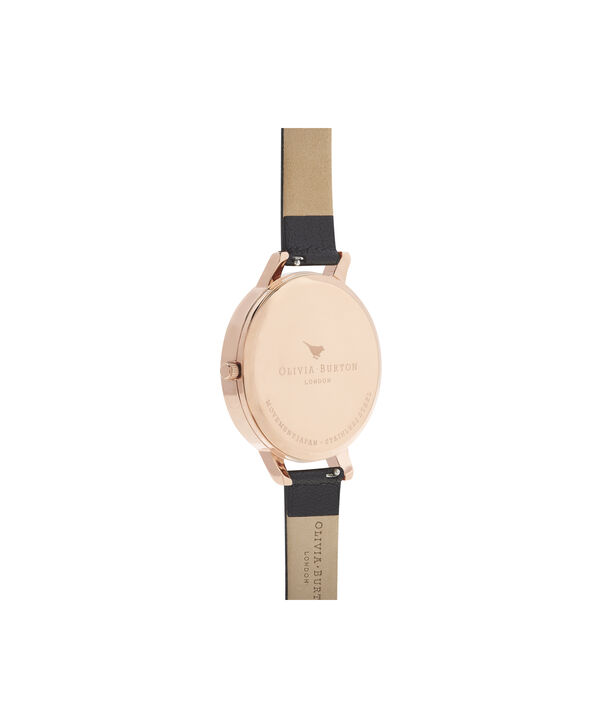 OLIVIA BURTON LONDON Blooms & Butterflies Black And Rose GoldOB16EX105 – Big Dial In Black And Rose Gold - Back view