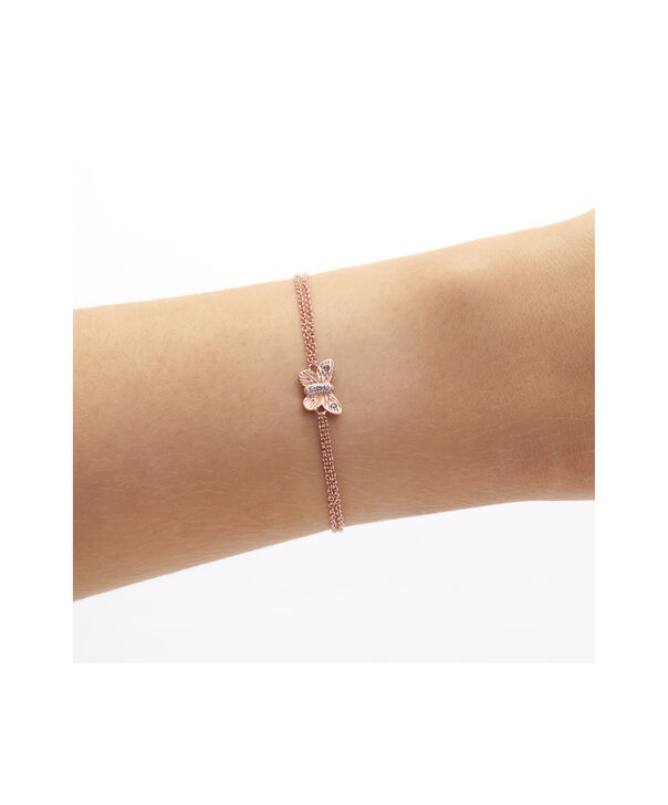 OLIVIA BURTON LONDON Bejewelled Butterfly Chain Bracelet Rose Gold & TanzaniteOBJ16MBB04 – Chain Bracelet in  and Rose Gold - Other view