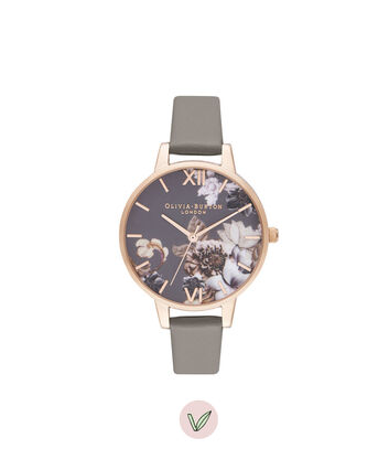 OLIVIA BURTON LONDON Demi Vegan London Grey & Rose GoldOB16CS20 – Demi Dial in London Grey and Rose Gold - Front view