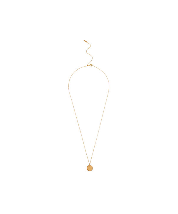 OLIVIA BURTON LONDON  Engravables Disc Necklace Gold OBJ16ENN10 – Engravable Disc Necklace - Front view
