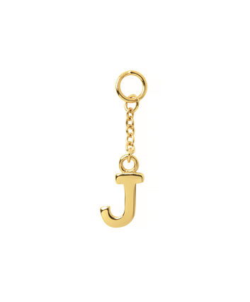 OLIVIA BURTON LONDON  J Alphabet Huggie Charm Gold OBJ16HCGJ – Charms - Front view