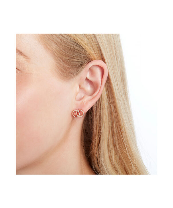 OLIVIA BURTON LONDON The Classics Interlink Earrings Rose GoldOBJCOE72 – SHOPBAG_LABEL - Other view