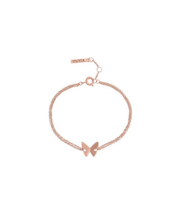 OLIVIA BURTON LONDON Butterfly WingOBJ16SBB02 – Butterfly Wing Chain Bracelet - Front view