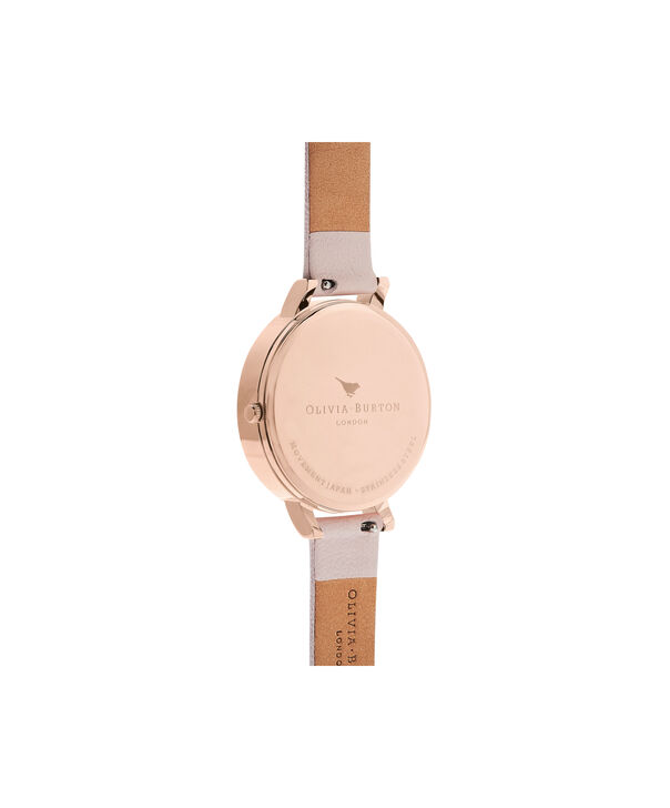 OLIVIA BURTON LONDON Semi Precious Blossom & Rose GoldOB16SP03 – Big Dial Round in Rose Gold - Back view