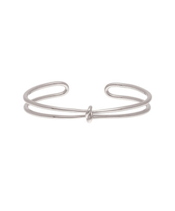 OLIVIA BURTON LONDON  Forget Me Knot Cuff Bracelet Silver OBJ16KDB06 – Forget Me Knot Cuff - Front view