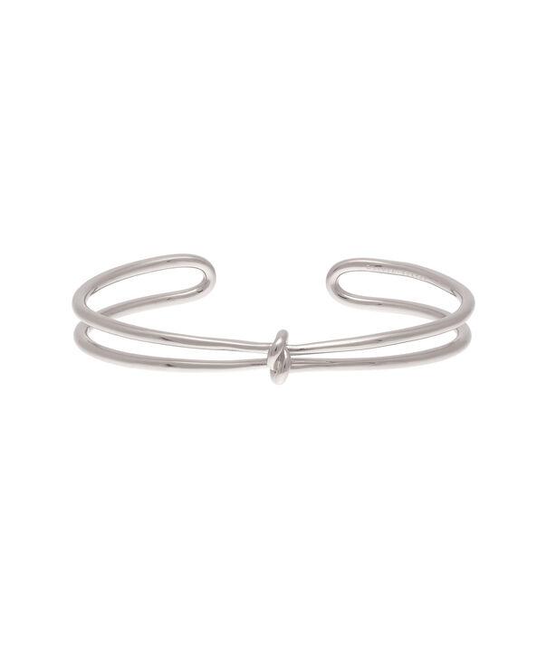 OLIVIA BURTON LONDON  Forget Me Knot Cuff Bracelet Silver OBJ16KDB06 – Forget Me Knot Cuff - Front view