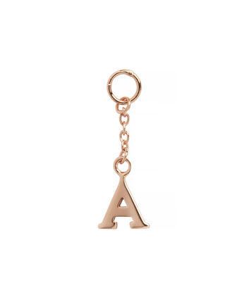 OLIVIA BURTON LONDON  A Alphabet Huggie Charm Rose Gold OBJ16HCRGA – Charms - Front view