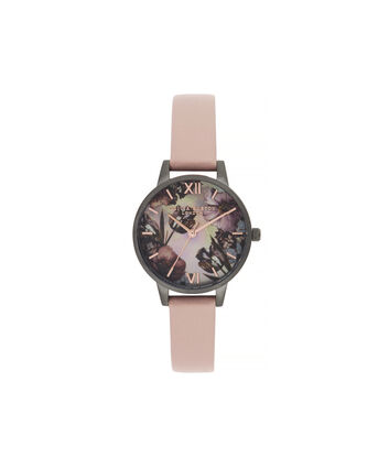 OLIVIA BURTON LONDON Twilight Midi Dial Watch with Grey Mother-Of-PearlOB16TW04 – Midi Dial in pink and Gunmetal - Front view
