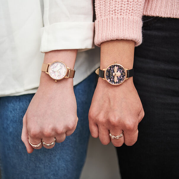 OLIVIA BURTON LONDON Meant to Bee Demi Black & Rose GoldOB16AM165 – Demi Dial In Black And Rose Gold - Other view