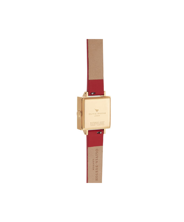 OLIVIA BURTON LONDON 3D Butterfly Gift Set Red & GoldOB16GSET27 – Demi Dial In Red And Gold - Back view