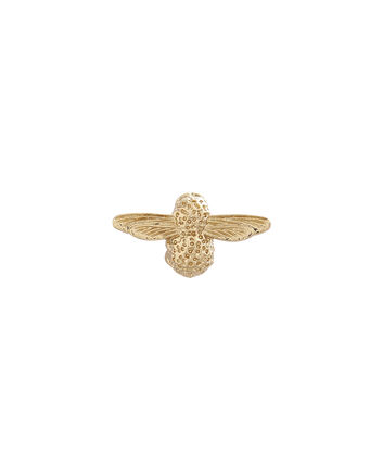OLIVIA BURTON LONDON  Gold Bee Pin  OBPIN01 – Bee Pin in Gold - Front view