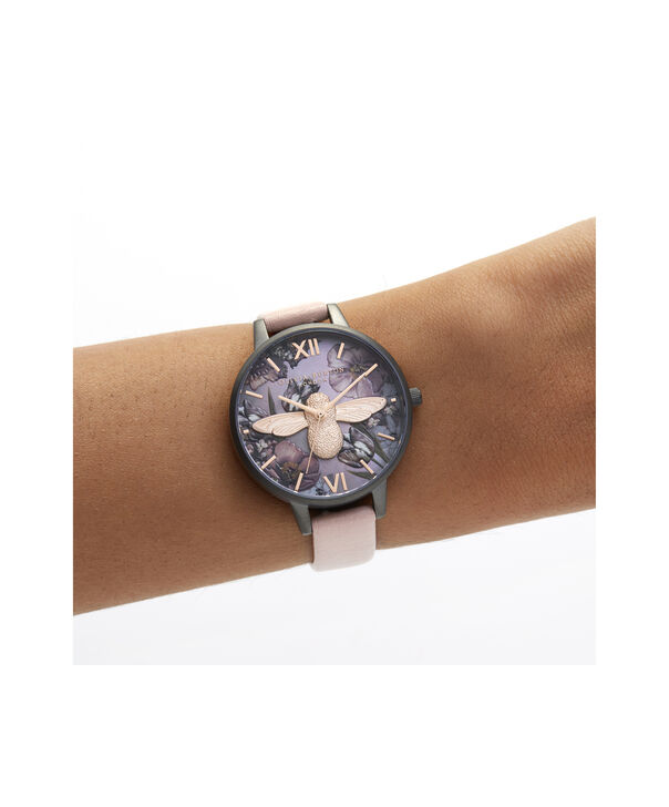 OLIVIA BURTON LONDON Twilight Demi Dial Watch with Lilac Mother-Of-PearlOB16TW02 – Demi Dial in pink and Gunmetal - Other view