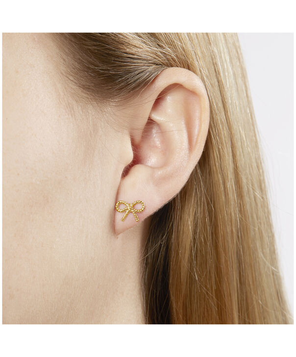 OLIVIA BURTON LONDON Vintage Bow Stud EarringsOBJ16VBE22 – Vintage Bow Stud Earrings - Side view