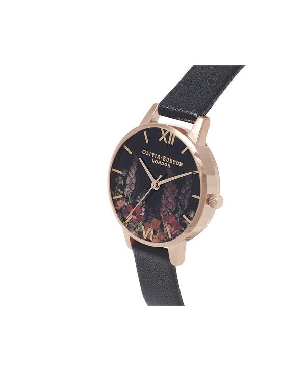 OLIVIA BURTON LONDON  Dark Bouquet Rose Gold Watch OB16WG43 – Midi Dial Round in Rose Gold - Side view