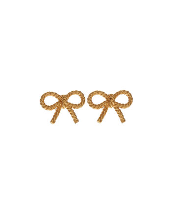 OLIVIA BURTON LONDON Vintage BowOBJ16VBE01 – Vintage Bow Stud Earrings - Front view