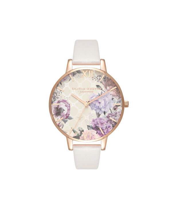 OLIVIA BURTON LONDON  Glasshouse Blush & Rose Gold OB16EG97 – Big Dial Round in Rose Gold - Front view