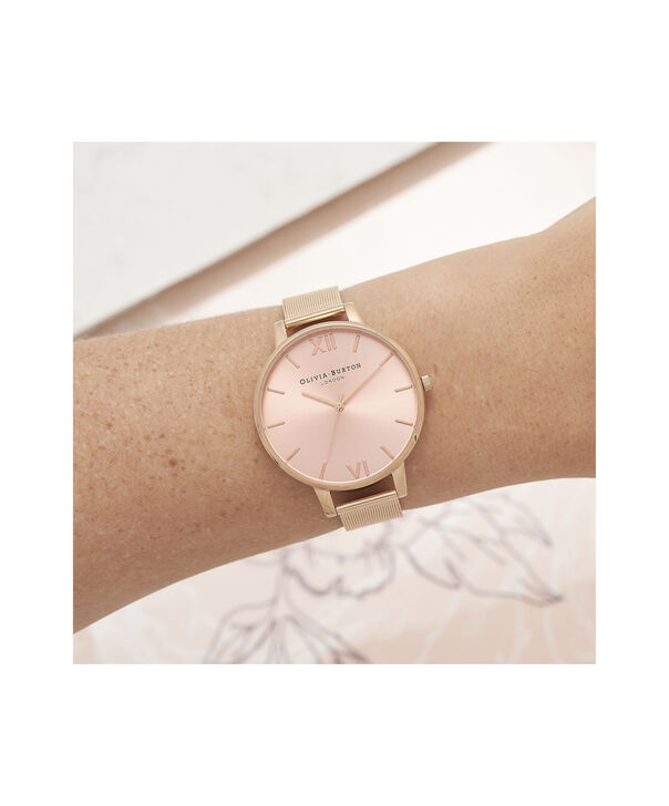 OLIVIA BURTON LONDON Big Dial Rose Gold Sunray Mesh WatchOB16BD102 – Big Dial in Rose Gold - Other view