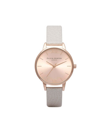 OLIVIA BURTON LONDON  Midi Dial Mink And Rose Gold Watch OB14MD21 – Midi Dial Round in Rose Gold and Mink - Front view