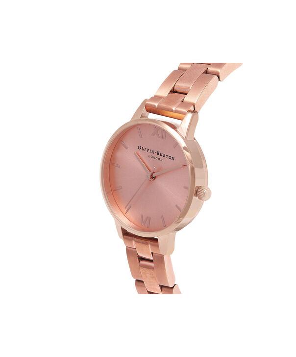 OLIVIA BURTON LONDON  Midi Dial Bracelet Rose Gold Watch OB13BL05B – Midi Dial Round in Rose Gold - Side view
