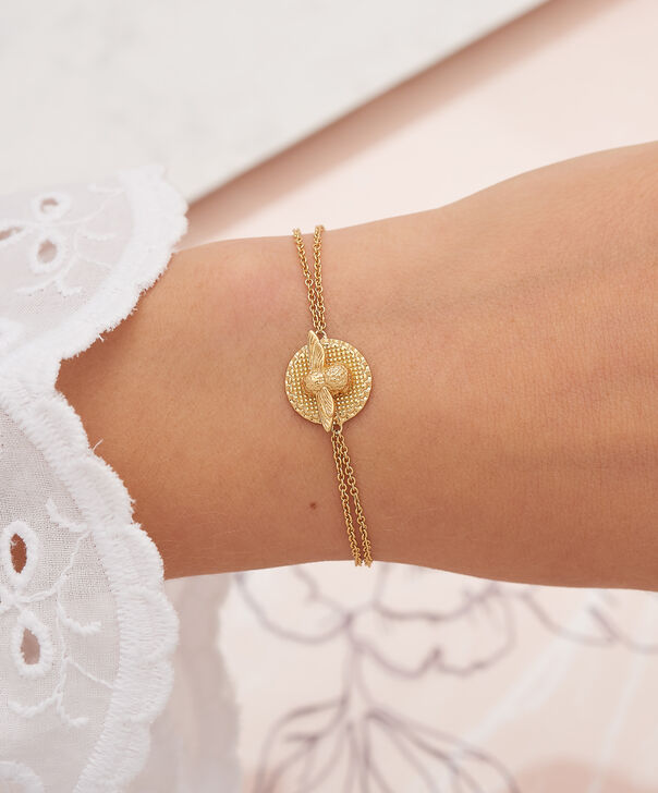 OLIVIA BURTON LONDON 3D Bee & Coin Chain Bracelet Gold OBJ16AMB22 – 3D Bee Chain Bracelet - Other view