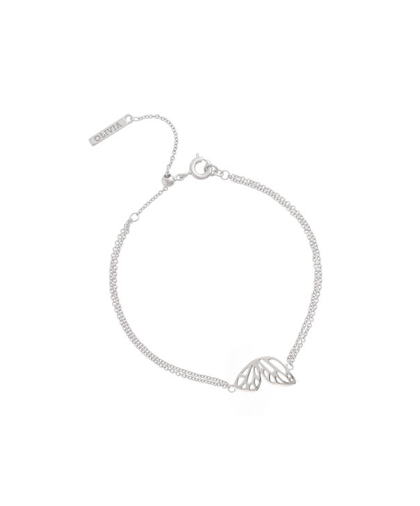 OLIVIA BURTON LONDON Butterfly Wing Chain Bracelet Silver OBJ16EBB03 – Butterfly Wing Chain Bracelet - Back view