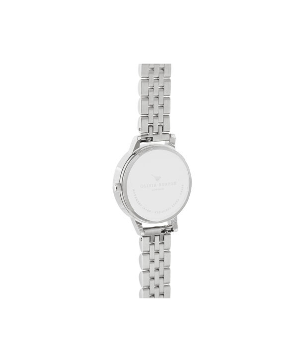 OLIVIA BURTON LONDON Midi Rose Quartz & Silver BraceletOB16SP07 – Midi Dial in Silver and Silver - Back view