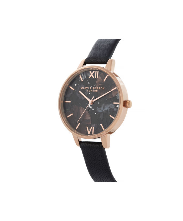 OLIVIA BURTON LONDON Celestial Demi Dial WatchOB16GD22 – Demi Dial in black and Rose Gold - Side view