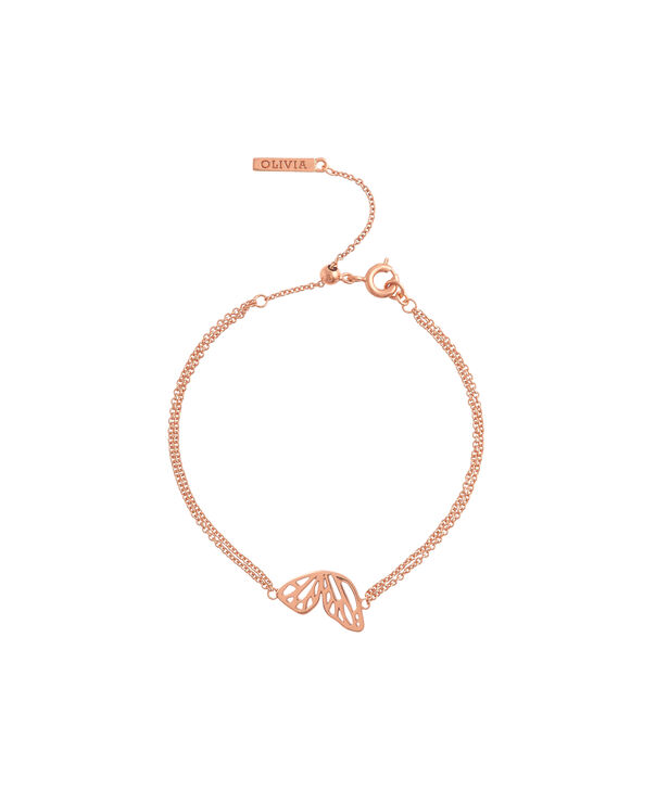 OLIVIA BURTON LONDON Butterfly Wing Chain Bracelet Rose GoldOBJ16EBB02 – Butterfly Wing Chain Bracelet - Front view