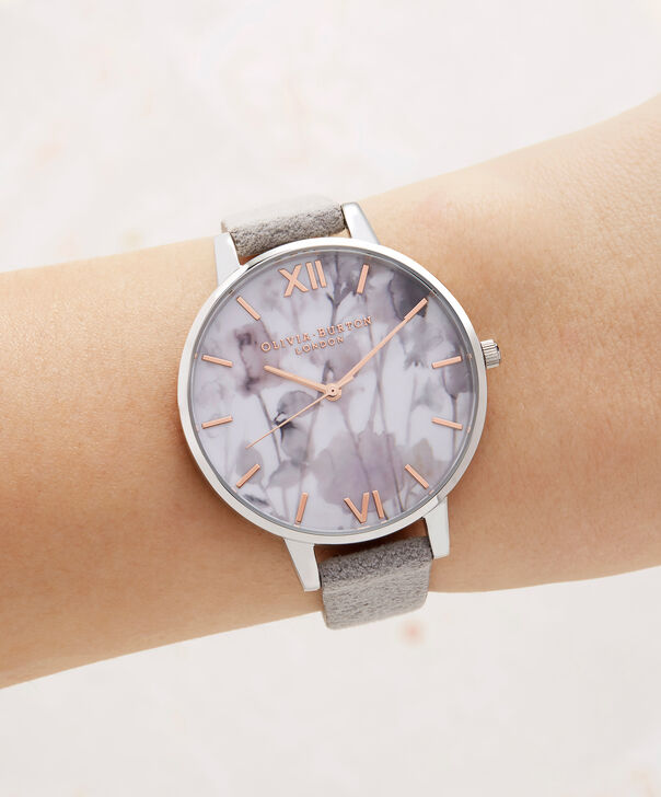 OLIVIA BURTON LONDON  Eco Friendly Grey Lilac, Rose Gold & Silver OB16VE13 – Big Dial Round in Silver , Rose Gold and Grey - Other view