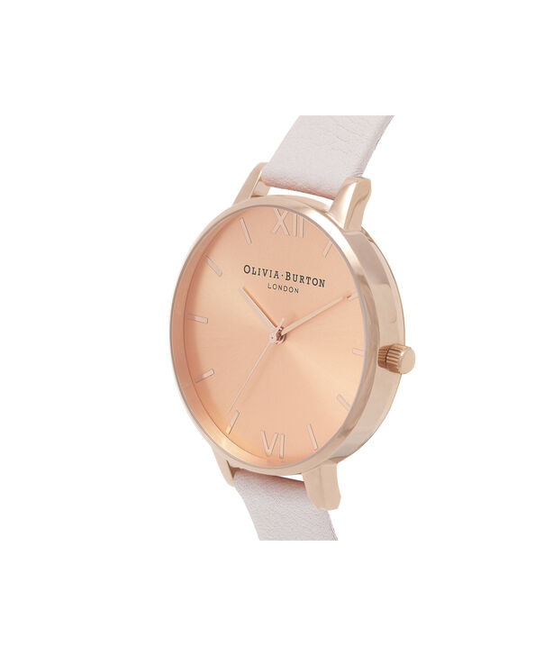 OLIVIA BURTON LONDON  Sunray Dial Blossom & Rose Gold OB16BD110 – Big Dial Round in Rose Gold and Pink - Side view