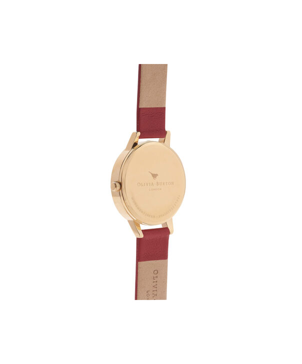OLIVIA BURTON LONDON  Midi Dial Red And Gold Watch OB15MD63 – Midi Dial Round in Gold and Red - Back view