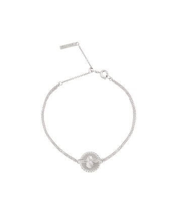 OLIVIA BURTON LONDON 3D Bee & Coin Chain Bracelet Silver OBJ16AMB24 – 3D Bee Chain Bracelet - Front view