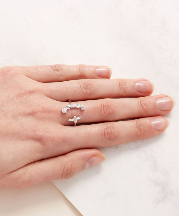 OLIVIA BURTON LONDON Bee Blooms Ring SilverOBJ16BBR03 – Bee Blooms Ring - Other view