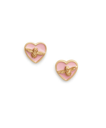 OLIVIA BURTON LONDON Love Bug Studs Pink & GoldOBJLHE12 – SHOPBAG_LABEL - Front view