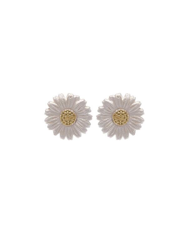 OLIVIA BURTON LONDON  Daisy Stud Earrings Gold OBJ16DAE01 – 3D Daisy Stud Earrings - Front view
