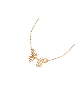 OLIVIA BURTON LONDON Butterfly Wing Necklace GoldOBJ16EBN04 – Butterfly Wing Necklace - Front view