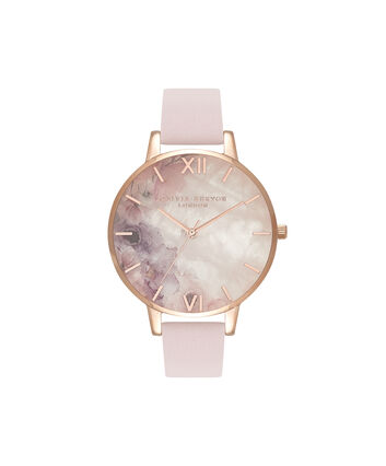 OLIVIA BURTON LONDON Semi Precious Blossom & Rose GoldOB16SP03 – Big Dial Round in Rose Gold - Front view