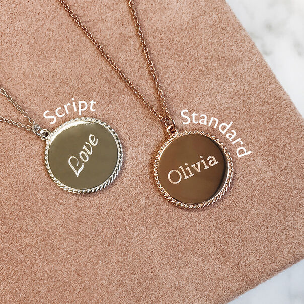 OLIVIA BURTON LONDON Engravables Disc Necklace GoldOBJ16ENN10 – Engravable Disc Necklace - Other view
