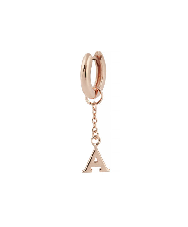 OLIVIA BURTON LONDON  A Alphabet Huggie Charm Rose Gold OBJ16HCRGA – Charms - Side view