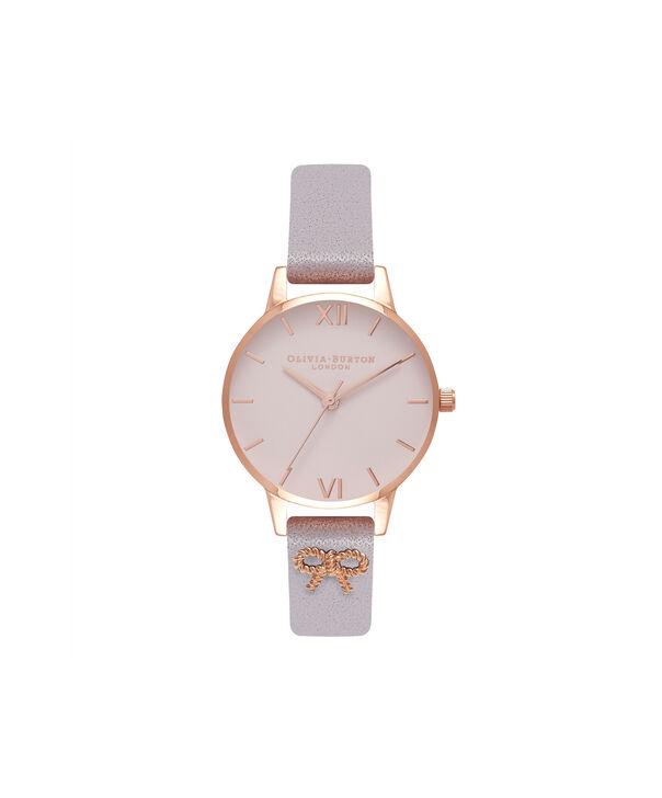 Ladies Vintage Bow Grey Lilac & Rose Gold Watch | Olivia Burton London