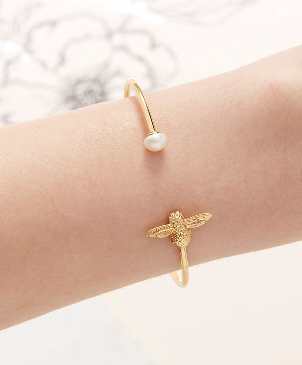 OLIVIA BURTON LONDON  Pearl Bee Bangle Gold  OBJ16AMB29 – Pearl Bee Bangle - Other view