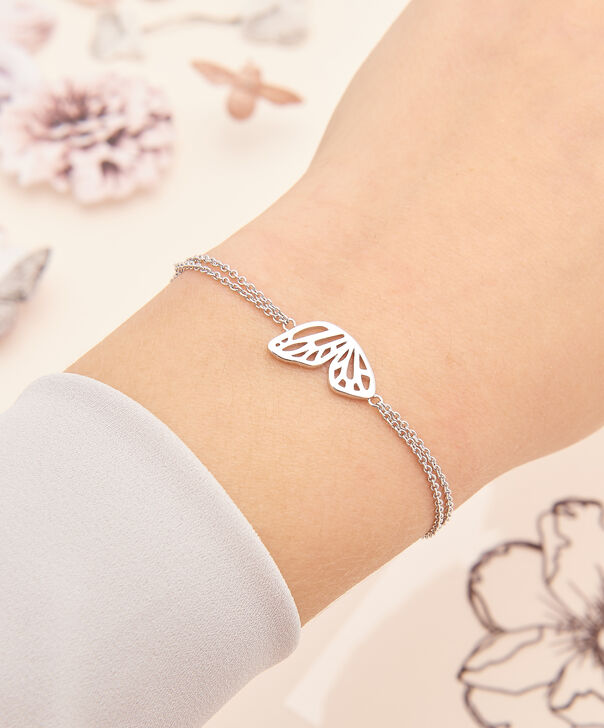 OLIVIA BURTON LONDON Butterfly Wing Chain Bracelet Silver OBJ16EBB03 – Butterfly Wing Chain Bracelet - Other view