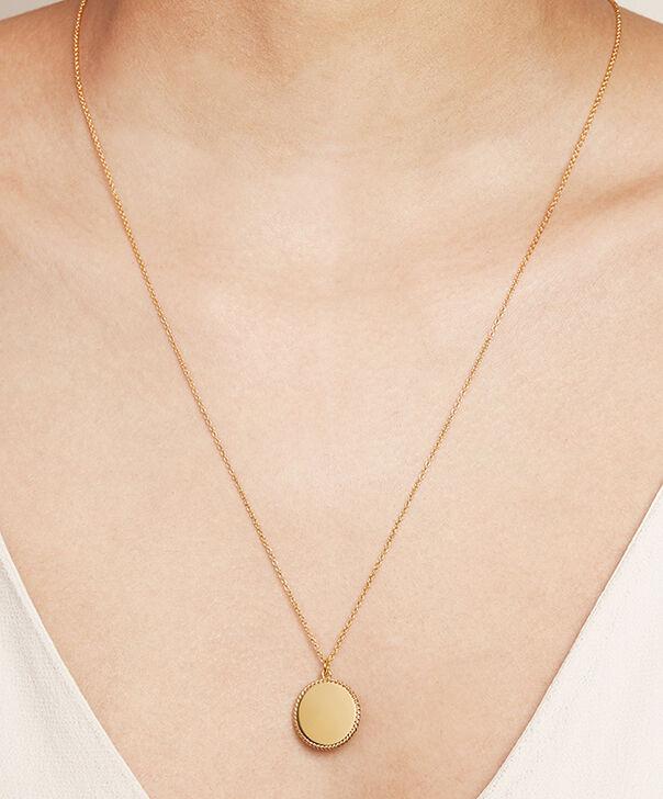 OLIVIA BURTON LONDON  Engravables Disc Necklace Gold OBJ16ENN10 – Engravable Disc Necklace - Other view