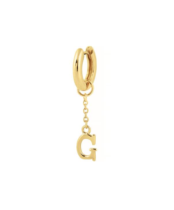 OLIVIA BURTON LONDON  G Alphabet Huggie Charm Gold OBJ16HCGG – Charms - Side view