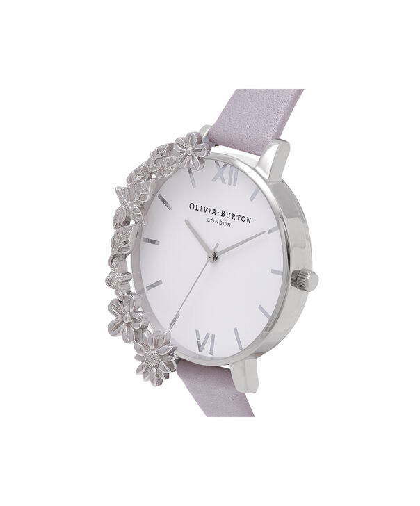 OLIVIA BURTON LONDON Case Cuff Grey Lilac and SilverOB16CB05 – Removable Case Cuff - Side view