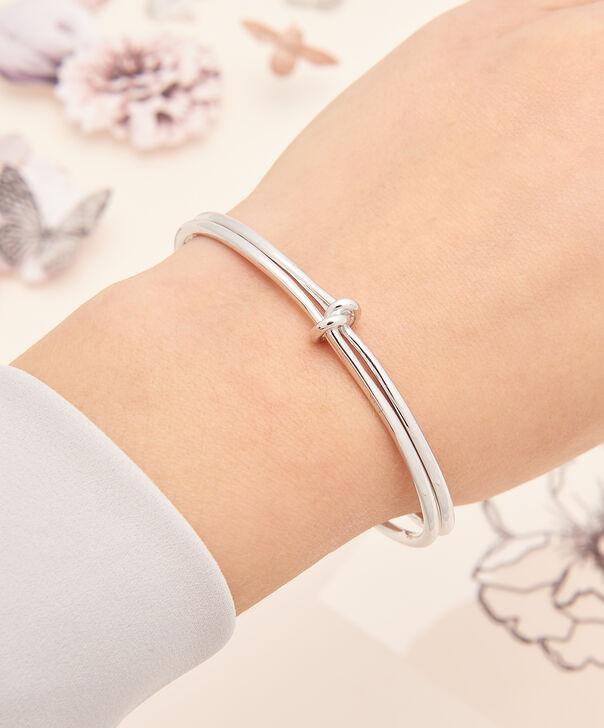 OLIVIA BURTON LONDON  Forget Me Knot Cuff Bracelet Silver OBJ16KDB06 – Forget Me Knot Cuff - Other view